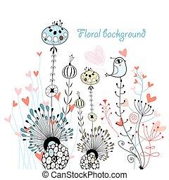 flora beckgrond bird