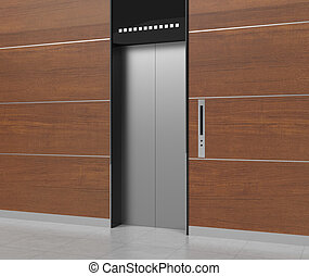 The elevator made from 3dcg