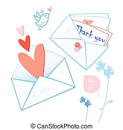 graphical envelopes with hearts