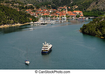 Skradin in Croatia - Small croatian town of Skradin on Krka...