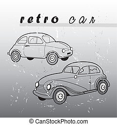 retro car - vektor retro car