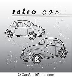 retro car - vektor retro car