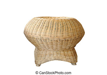 Single rattan chair, Thailand furniture.