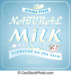 great advertising milk - Vintage Posters milk. vector...