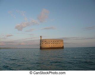 Fort Boyard - Fort boyard fortified castle in the middle of...