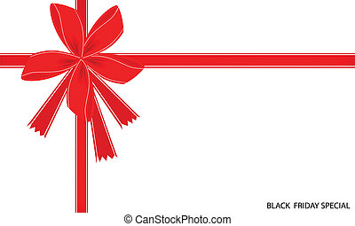 Black Friday Special Card with Red Ribbon