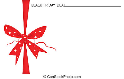 Black Friday Gift Card with Red Ribbon