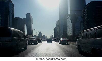 City street driving in Beijing