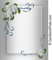 Wedding Invitation border Gardenias - Image and illustration...