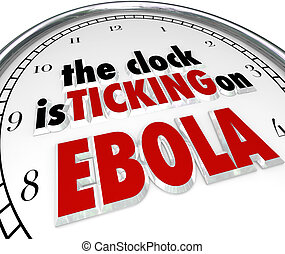 reloj, tictac, Ebola, tiempo, parada, mortal, enfermedad,...