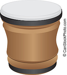 Bongo Drum - a musical percussion instrument of Latin...