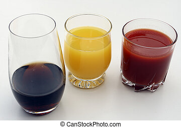 juices - jucies on the white background