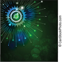 green Tech Background Vector Graphic