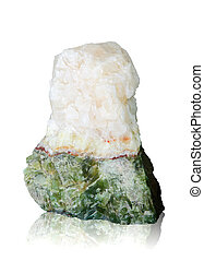 Nature mineral of jade stone with clipping path.