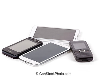 collection of cell phones