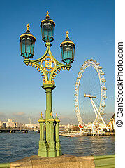 Street Lights - Street lights on Westminster Bridge, London,...