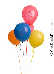 Five Happy Birthday Ballons - Five colourful ballons image...