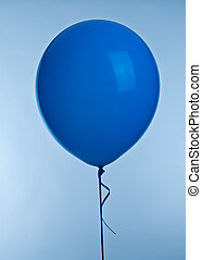 Blue ballons - One blue ballon image on blue background
