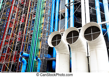Paris - PARIS, FRANCE, August 6, 2014: The Pompidou cultural...