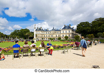 Paris - PARIS, FRANCE, August 9, 2014: The beautiful view of...