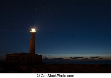 Watch over me - Augusta Lighthouse in a starry night before...