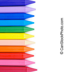Polymeric Crayons - Vertical Frame of Multicolored Polymeric...