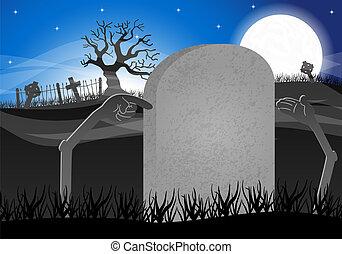 halloween grave stone to write on