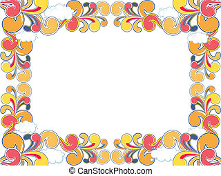 colored ornamental frame