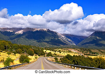 The cumulus clouds - Patagonia The longest road the Ruta 40...