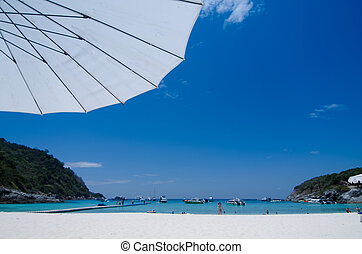 beautiful beach at Raya Island, Phuket, Thailand