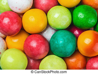 colored chewing gum round