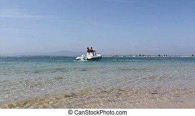 Ria Formosa Armona Island view - Boat in Ria Formosa...