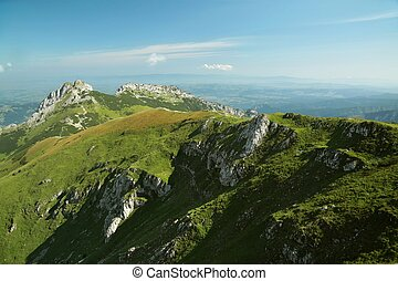 Giewont in the Polish Tatras - Pass leading to the top of...