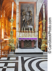 Also marble chapel altar with icons - Jerusalem - September...