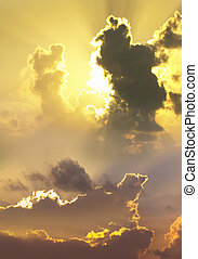 Heaven - Dramatic clouds at sunset - A dramatic sky and...