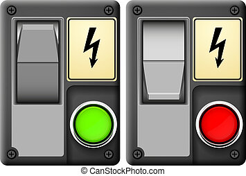 Electrical switch abstract vector illustration isolated eps...