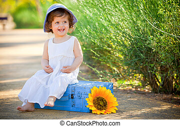 happy child little toddler laughing
