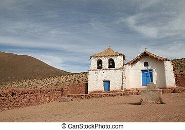 Altiplano church near San Pedro de Atacama