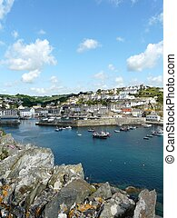 Mevagissey harbour, England - Mevagissey harbour in...
