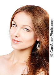 rejuvenation - Beautiful young woman with fresh pure skin....