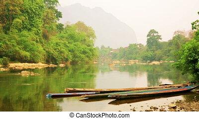 Mekong River Scene, Vang Vieng, Laos