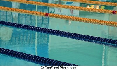 Sports competition swimming in the pool close to with the...