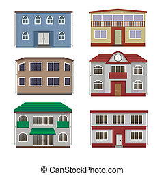 Home icon collection. - House and building set. Home icon...