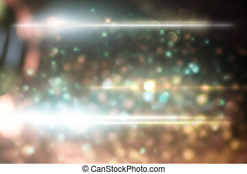 abstract light with optical flare