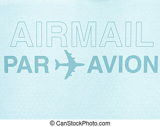 Airmail picture - cool cyanotype