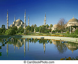 Blue mosque - view to Blue mosque-Istanbul Turkey