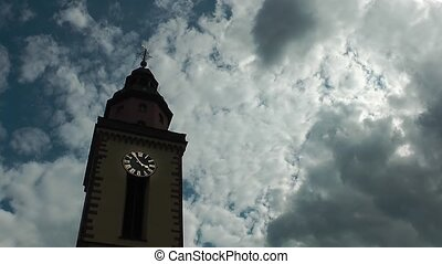 Church and Clouds Time Lapse