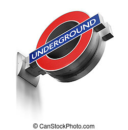 London Underground sign isolated
