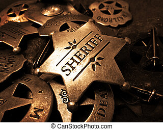 Sheriffs Badge Tin Star Law Enforcement - Sheriffs tin badge...
