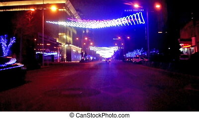 The pretty decorated lights at Jinbao Street near the new...